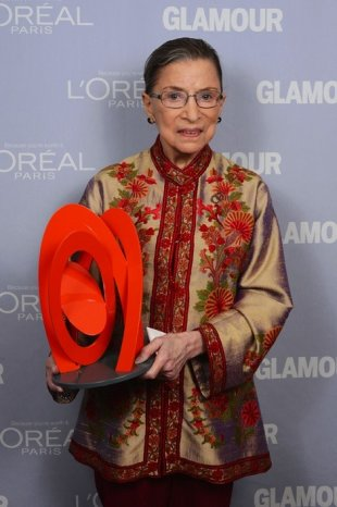 Ginsburg receiving Woman of the Year 2012 award