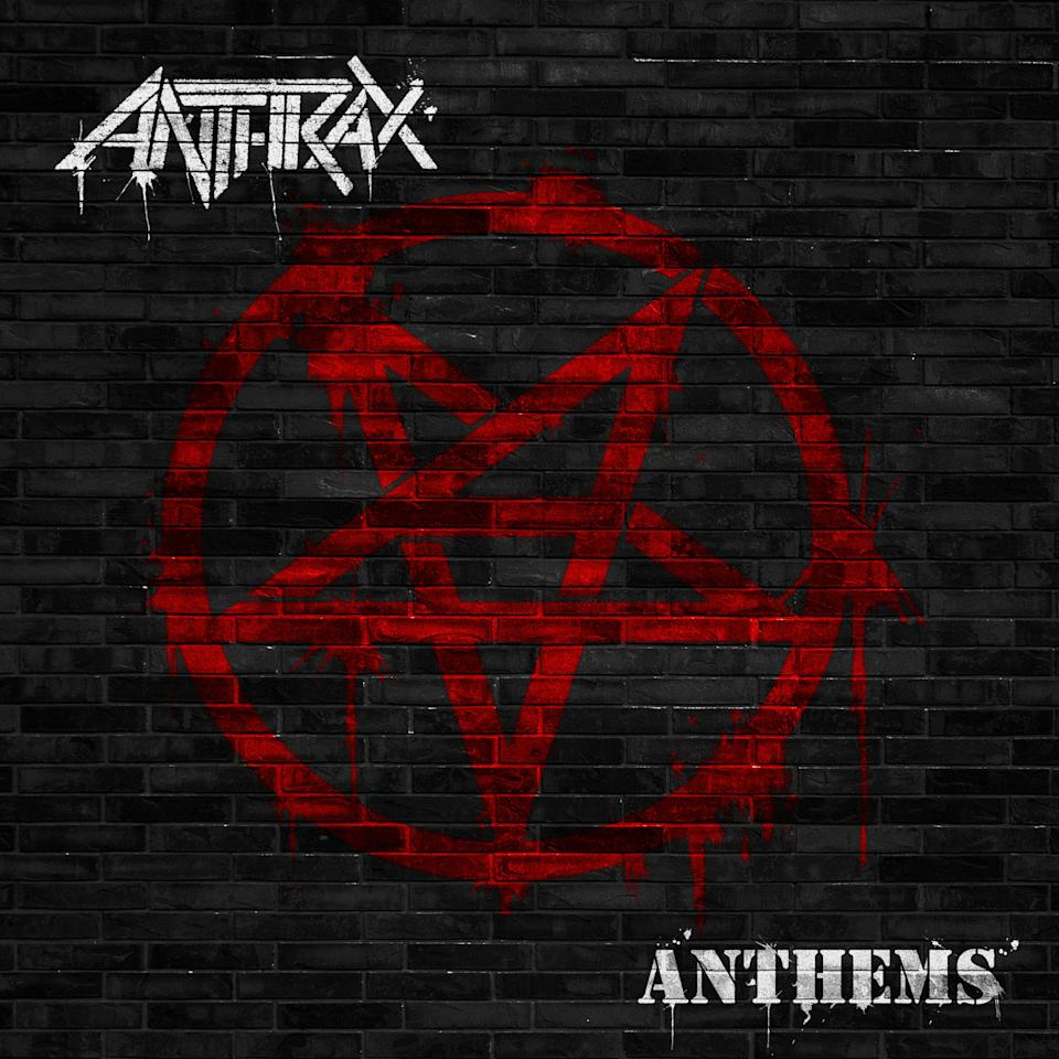 "This CD cover image released by Megaforce shows ""Anthems,"" by Anthrax. (AP Photo/Megaforce)"