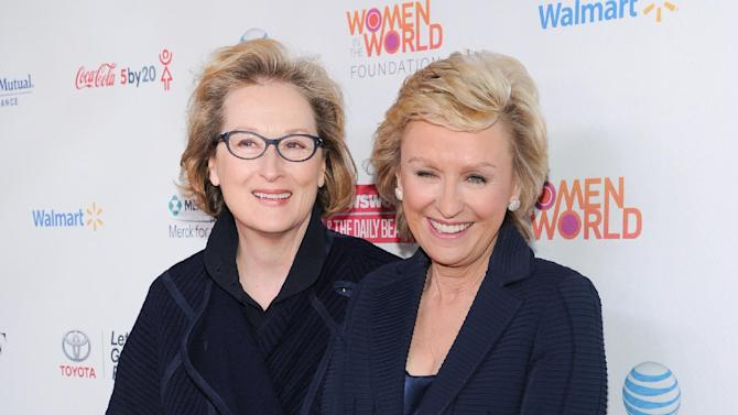 Actress Meryl Streep, left, and editor-in-chief of The Daily Beast and Newsweek, Tina Brown, attend the 4th Annual Women in the World Summit at the David H. Koch Theater on Thursday April 4, 2013 in New York. (Photo by Evan Agostini/Invision/AP)