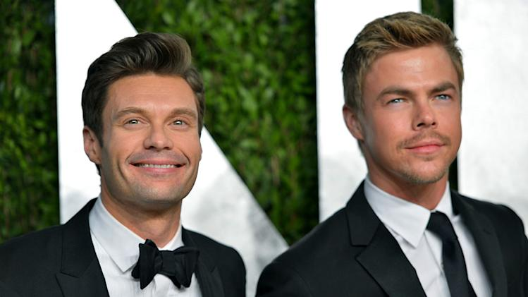 2013 Vanity Fair Oscar Party Hosted By Graydon Carter - Arrivals: Ryan Seacrest and Derek Hough