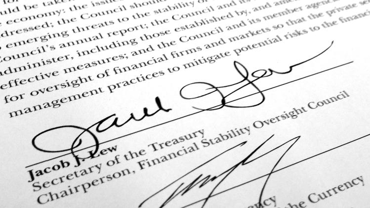Treasury Secretary's loopy signature improving