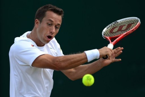 Lukas Rosol fell to defeat on Court 12