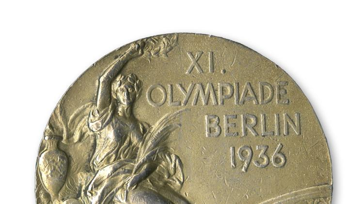 Handout photo of gold medal won by U.S. track star Jesse Owens at the 1936 Olympics in Berlin