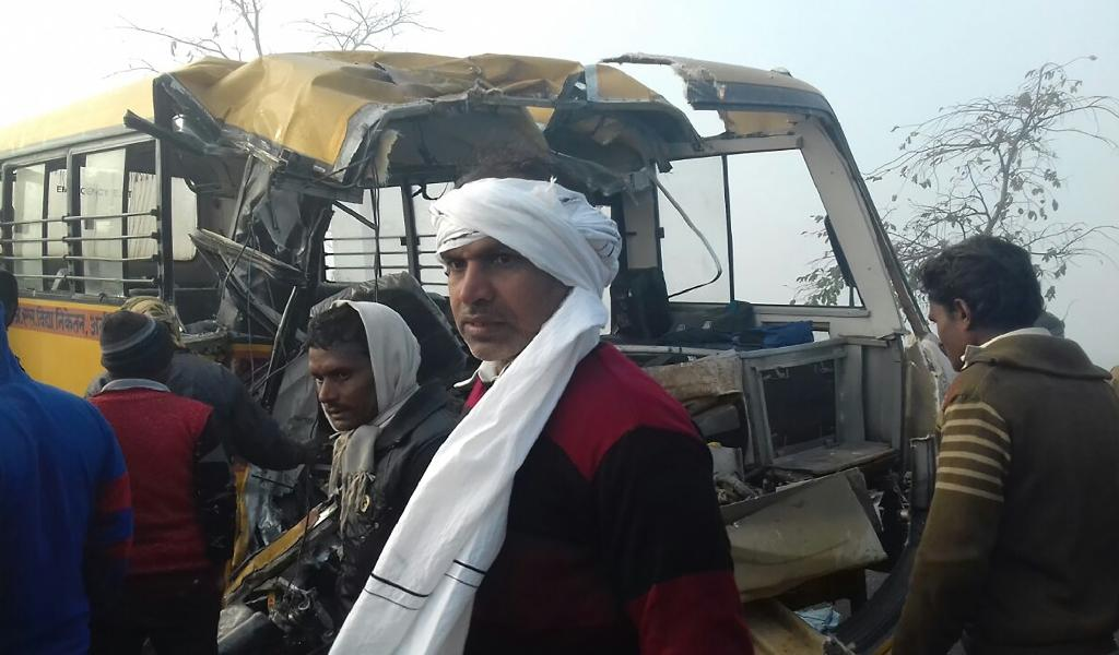 School bus crash in northern India leaves 13 dead