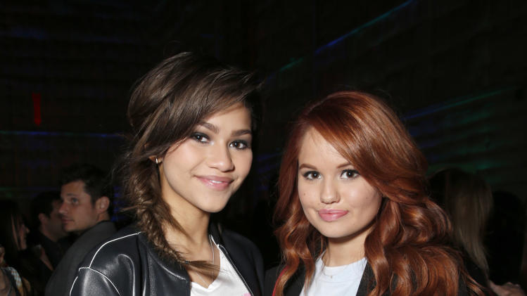 Zendaya and Debby Ryan attend the 16th Annual Friends 'N' Family Pre-Grammy Party at Paramount Studios on Friday, Feb. 8, 2013 in Los Angeles. (Photo by Todd Williamson/Invision/AP)
