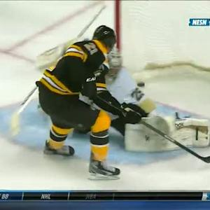 Eriksson dekes through his legs and scores