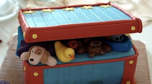 An age-appropriate toy box.