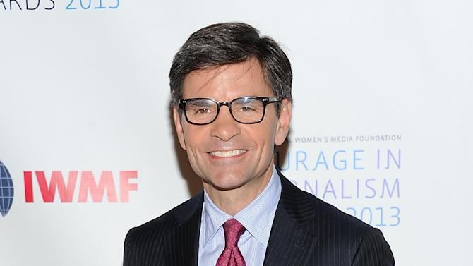 """FILE - In this Oct. 23, 2013 file photo, ABC News' George Stephanopoulos attends the 2013 Courage in Journalism and Lifetime Achievement Awards in New York. Newly-declared Republican presidential candidate Lindsey Graham's interview with George Stephanopoulos on """"Good Morning America"""" Tuesday is the latest sign that the ABC anchor's donations to the Clinton Foundation seem not to have impeded his coverage of the upcoming presidential elections. Stephanopoulos has also interviewed declared or prospective candidates Rick Santorum, Martin O'Malley, Bobby Jindal and Ben Carson for ABC News since it was revealed last month that he had donated a total of $75,000 to the former president's foundation and failed to inform his bosses about it. (Photo by Evan Agostini/Invision/AP, File)"""