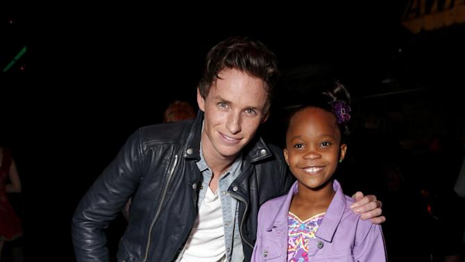 Actors Eddie Redmayne and Quvenzhané Wallis at the MTV Movie Awards in Sony Pictures Studio Lot in Culver City, Calif., on Sunday April 14, 2013. (Photo by Todd Williamson/Invision for MTV/AP Images)