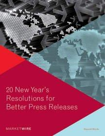 20 New Year's Resolutions for Press Release Distribution