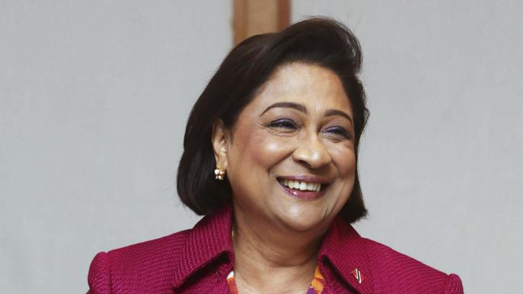 Prime Minister of Trinidad and Tobago Persad-Bissessar attends the Caricom/Japan summit, in Port-of-Spain