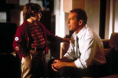 Spencer Breslin and Bruce Willis in Disney's The Kid