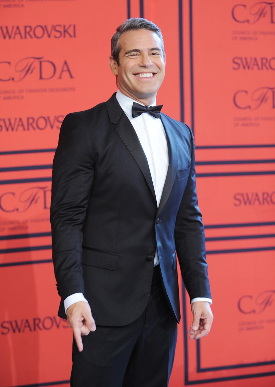 TV personality Andy Cohen attends the 2013 CFDA Fashion Awards at Alice Tully Hall on Monday, June 3, 2013 in New York. (Photo by Brad Barket/Invision/AP)