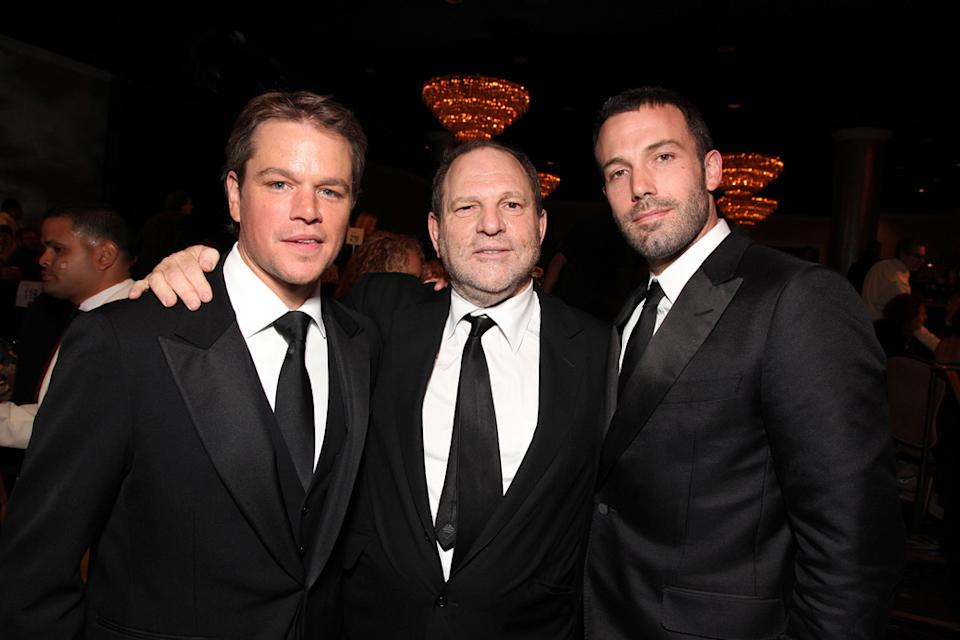 24th American Cinematheque Annual Gala 2010 Matt Damon Ben Affleck Harvey Weinstein