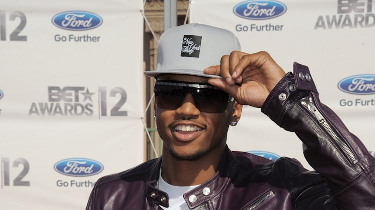 Trey Songz arrives at the BET Awards on Sunday, July 1, 2012, in Los Angeles. (Photo by Jordan Strauss/Invision/AP)