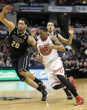 No. 24 Ohio State holds off Purdue 63-61