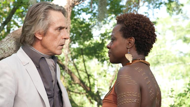 "This film image released by Warner Bros. Pictures shows Jeremy Irons, left, and Viola Davis in a scene from ""Beautiful Creatures."" (AP Photo/Warner Bros. Pictures, John Bramley)"