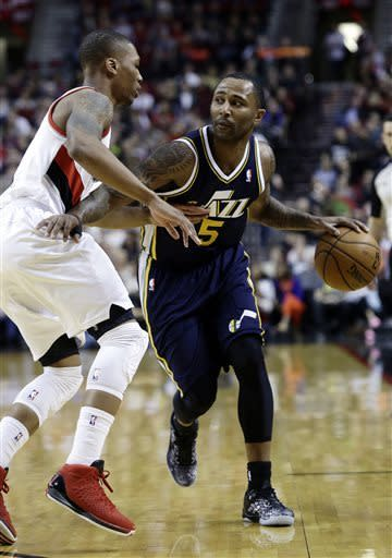 Utah rallies to beat Portland 105-95