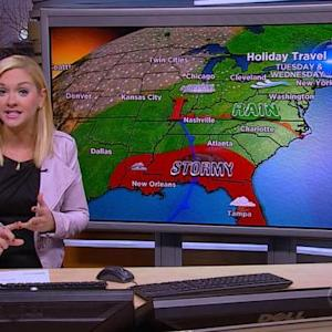 Huge storm system on the move amid heavy holiday travel