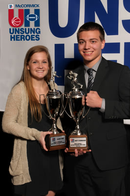 McCormick honors Claire Ford of Notre Dame Prep and Matt Stambaugh of Eastern Technical High School