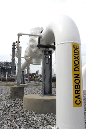 In this Oct. 21, 2013 photo, carbon dioxide filed pipes…
