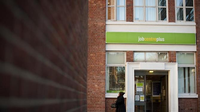 A job centre is pictured in central London, on February 15, 2012