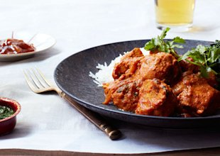 Chicken Tikka Masala: The yogurt helps tenderize the chicken; the garlic, ginger, and spices in the marinade infuse it with lots of flavor.