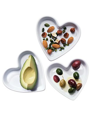 avocados, olives and nuts