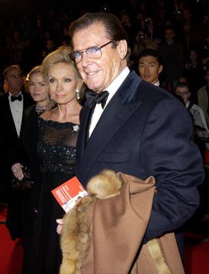Roger Moore at the London gala premiere of MGM's Die Another Day