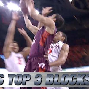 Top 3 Virginia Blocks vs Virginia Tech