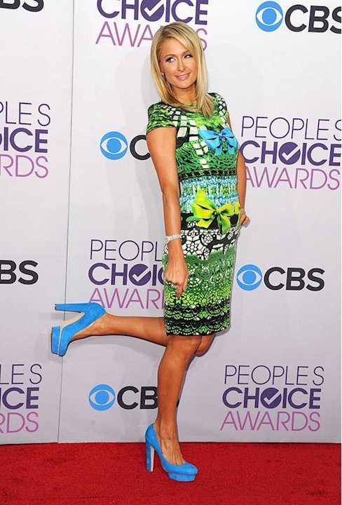 WORST: Paris Hilton.  So not hot. Where to start with Hilton's garish green-print minidress? The three bows? The Spiderman-esque top? The faux lace bottom? Maybe she was trying to be edgy, but this nu