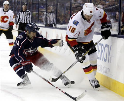 Blue Jackets too much for Flames 5-1