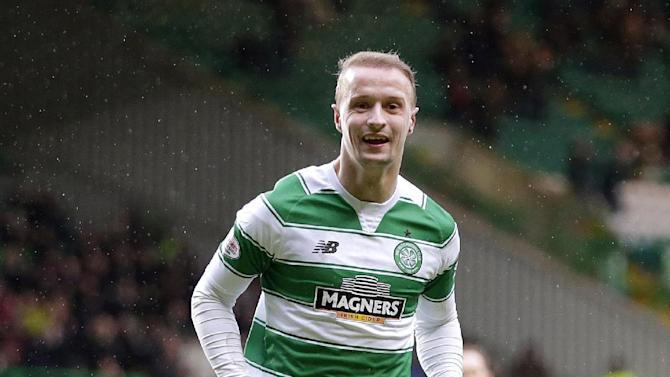 Celtic's Leigh Griffiths celebrates after scoring their first goal