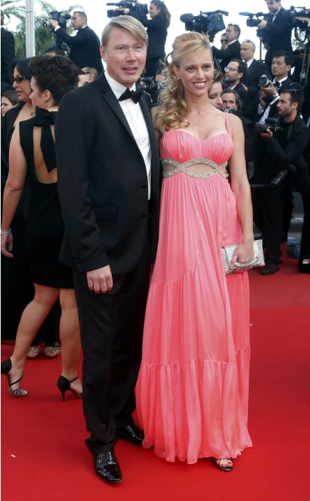 "Former Formula One driver Mika Hakkinen arrives for the screening of the film ""Behind the Candelabra"" in competition during the 66th Cannes Film Festival"