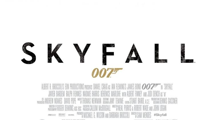 Best and Worst Movie Posters 2012  Skyfall