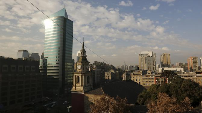 The Church of San Francisco is seen in downtown Santiago, Chile