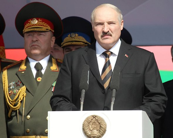 "File - Belarus President Alexander Lukashenko speaks during a parade marking Independence Day in Minsk, Belarus, in this Tuesday, July 3, 2012 file photo. Sweden said Friday Aug. 3 2012 that Belarus had expelled its ambassador for ""being too supportive of human rights."" Belarus countered that it merely chose not to extend the envoy's accreditation, calling his activities destructive. The dispute was the latest in a series of diplomatic spats between Belarus and Western nations, especially European Union states that have taken steps against the ex-Soviet country and its longtime leader, President Alexander Lukashenko, over its stifling of human rights. (AP Photo / Nikolai Petrov, BelTA, File)"