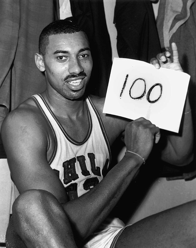 <p>Really soak in these season averages for Chamberlain: 50.4 points, 25.7 rebounds. That sounds made up. But it's not. And yes, that season included his famous 100-point game. He scored 4,029 points that season, and only one other player in NBA history (Michael Jordan) has ever scored over 3,000 in a year. </p>
