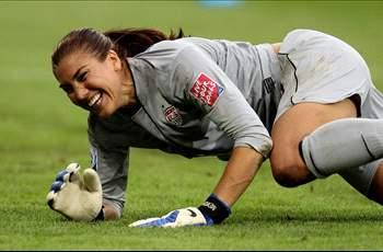 Women should be allowed to play in men's teams and soccer will be the United States' most popular sport, says Hope Solo
