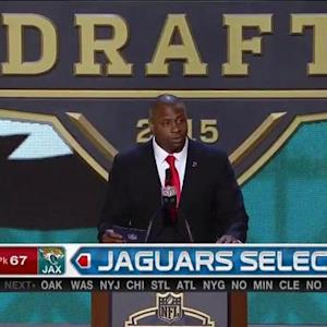 Jacksonville Jaguars pick guard A.J. Cann No. 67 in the 2015 NFL Draft