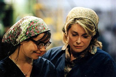 Bjork and Catherine Deneuve in Fine Line's Dancer In The Dark