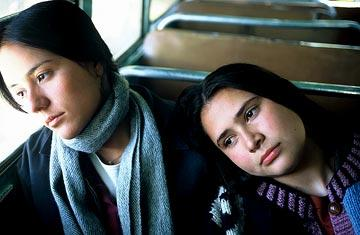 Catalina Sandino Moreno and Yenny Paola Vega in Fine Line Features' Maria Full of Grace