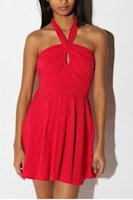 Urban Outfitters red halter dress, $47.