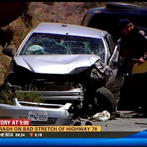 Bad crash on bad stretch of Highway 78