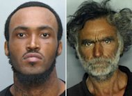 Rudy Eugene, verdugo, y Ronald Poppo, víctima del incidente de Miami (AP Photo/Miami-Dade Police Dept)