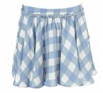 Flirty A-line gingham skirt, $70.00
