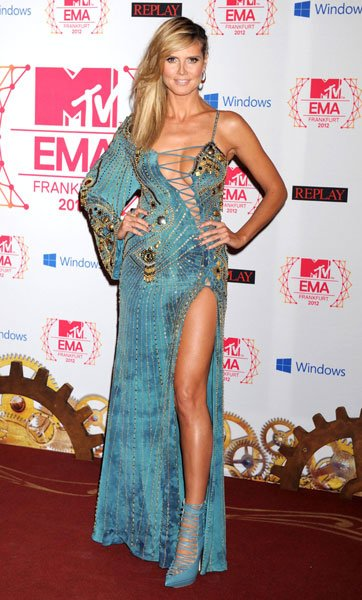 Worst dressed: Heidi Klum