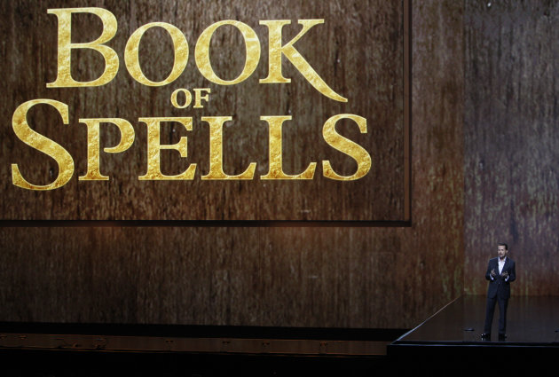 "Andrew House, President of Sony Computer Entertainment Europe, introduces ""Book of Spells"" at the Sony Electronic Entertainment Expo (E3) news conference in Los Angeles, Monday, June 4, 2012. (AP Photo/Jason Redmond)"