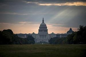 The U.S. Capitol building is seen on Tuesday morning after the federal government was shutdown when the House and Senate failed to pass a budget in Washington