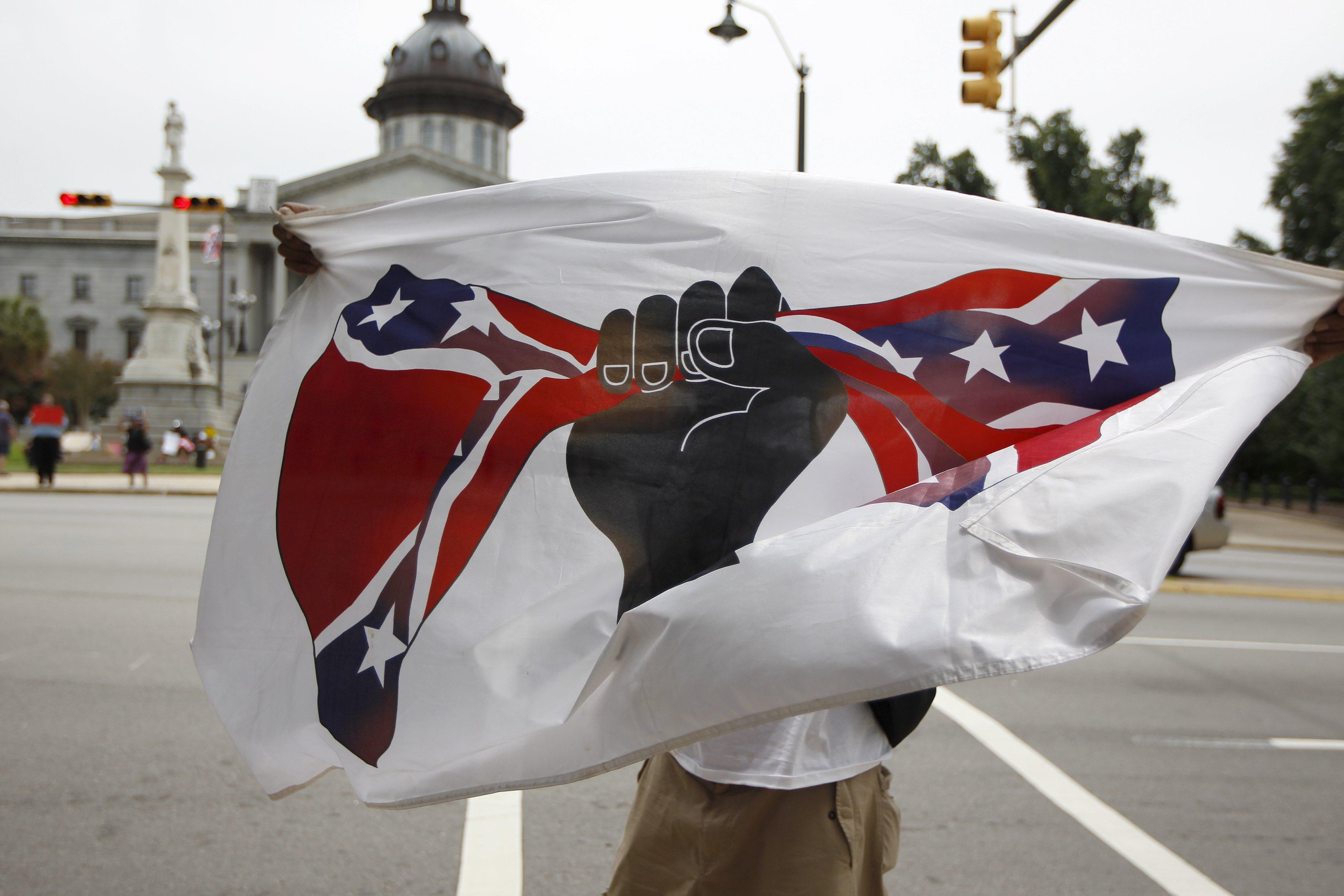 Confederate flag protest in South Carolina